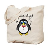 Choir Sing Penguin Music Tote Bag