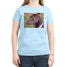 Chocolate Lab Women's Pink T-Shirt
