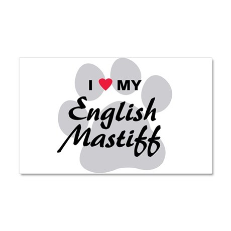 Love My English Mastiff Car Magnet 20