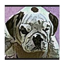 English Bulldog Art Tile Coaster