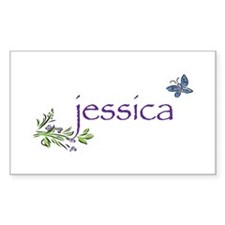 Jessica Rectangle Decal