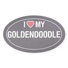 I Love My Goldendoodle Oval Sticker/Decal