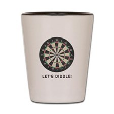 Let's Diddle! Dartboard Shot Glass
