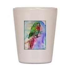 Parrot, bird, art, Shot Glass