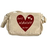 Heart Best Nanny Ever Messenger Bag