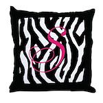 Customizable Zebra Throw Pillow