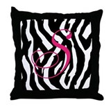 Customizable Zebra Throw Pillow