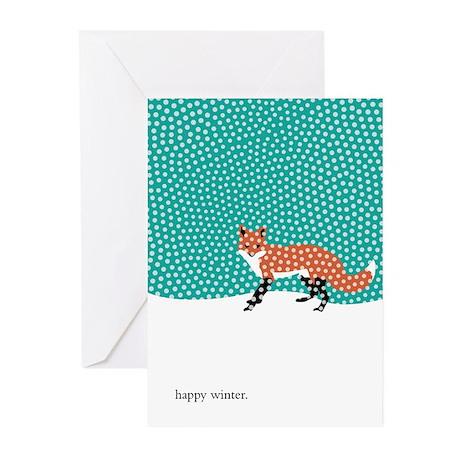 Snowy Fox Greeting Cards (Pk of 10)