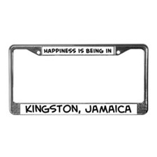 Happiness is Kingston License Plate Frame