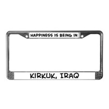 Happiness is Kirkuk License Plate Frame