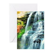 WATERFALL ART Greeting Cards (Pk of 20)