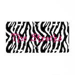 Customizable Zebra License Plate