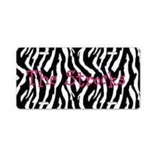 Customizable Zebra License Plate