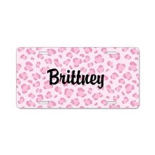Pink Cheetah License Plate