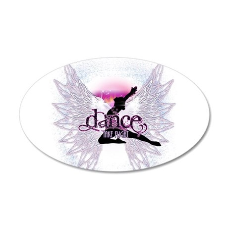 Crystal Dancer 22x14 Oval Wall Peel