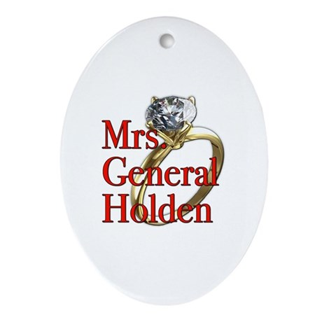 Mrs. General Holden Army Wives Ornament (Oval)