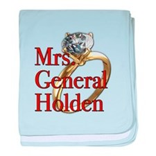 Mrs. General Holden Army Wives baby blanket
