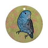 Blue Parrotlet Art Ornament (Round)