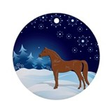 Chestnut Arabian Horse Ornament (Round)