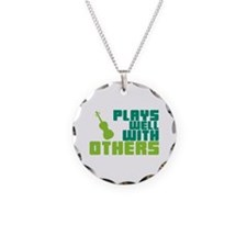 Plays Well With Others Necklace Circle Charm