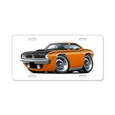 1970 AAR Cuda Orange Car Aluminum License Plate