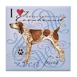 American English Coonhound Tile Coaster