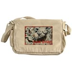 Buck deer in snow Messenger Bag