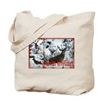 Buck deer in snow Tote Bag