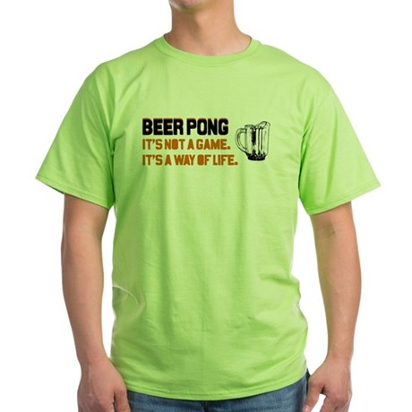 Beer Pong Green T-Shirt