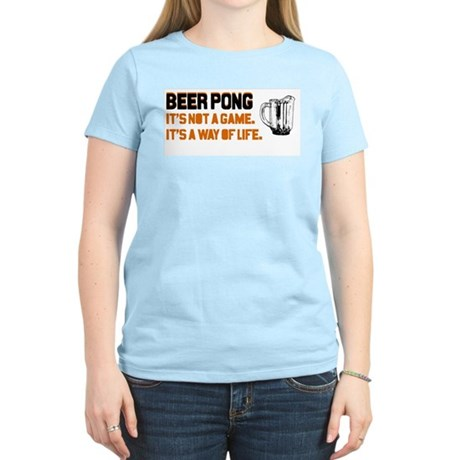 Beer Pong Women's T-Shirt (Light Colors)