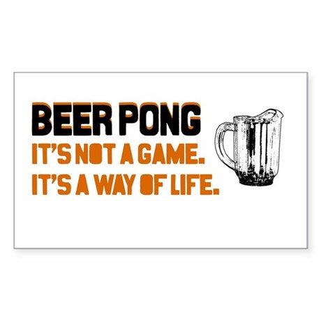 Beer Pong Rectangle Sticker