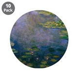 "Water Lilies 3.5"" Button (10 pack)"