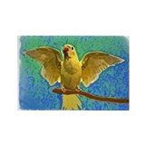 Lutino Ringneck Art Rectangle Magnet