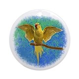 Lutino Ringneck Art Ornament (Round)