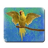 Lutino Ringneck Art Mousepad