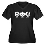 Eat Sleep Cycle (Female) Women's Plus Size V-Neck