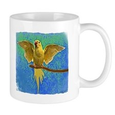 Lutino Ringneck Art Coffee Mug