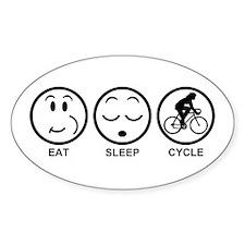 Eat Sleep Cycle (Female) Decal