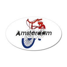 Amsterdam Bicycle 38.5 x 24.5 Oval Wall Peel