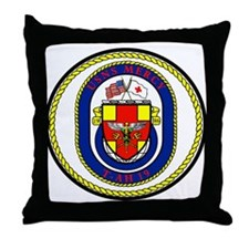 T-AH 19 USNS Mercy Throw Pillow