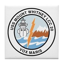 USS Mount Whitney LCC 20 Tile Coaster