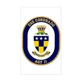 USS Coronado AGF 11 Rectangle Decal