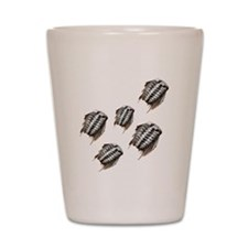 Marching Trilobites Shot Glass
