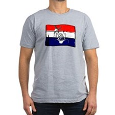 Dutch flag with sketch T