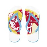 telephone line worker Flip Flops