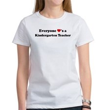 Loves a Kindergarten Teacher Tee