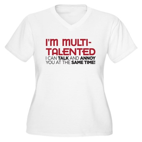 i'm multi-talented Women's Plus Size V-Neck T-Shir
