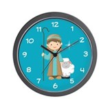 Christmas Shepherd Boy Wall Clock
