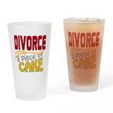 Divorce - Piece of Cake Drinking Glass