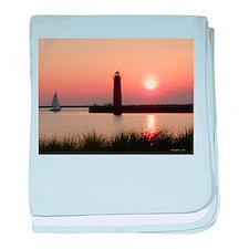 Muskegon Lighthouse 1 baby blanket